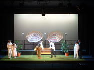 Photograph from Twelfth Night - lighting design by Pete Watts