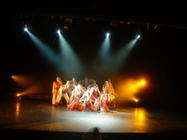 Photograph from Can't Stop The Beat - lighting design by Pete Watts
