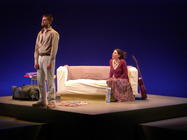 Photograph from O Go My Man - lighting design by Ian Saunders