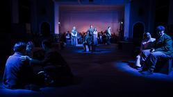 Photograph from King Arthur - lighting design by Steve Lowe
