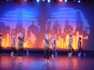 Photograph from Lets Face The Music - lighting design by Pete Watts