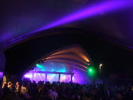 Photograph from Glastonbury Red Bull stage - lighting design by Pete Watts