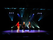 Photograph from Somewhere Over The Ruby Rainbow - lighting design by Pete Watts
