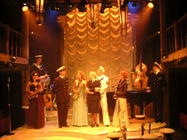 Photograph from Pinafore Swing - lighting design by Richard Jones