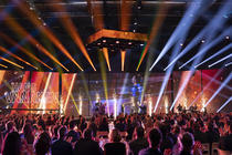 Photograph from 65th Belgian Golden Boot Gala - lighting design by Luc Peumans