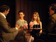 Photograph from The Real Inspector Hound / Dogg's Hamlet - lighting design by Steve Lowe