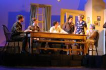 Photograph from Dolly West's Kitchen - lighting design by Charlie Lucas