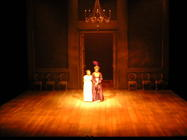 Photograph from Northanger Abbey - lighting design by Richard Jones