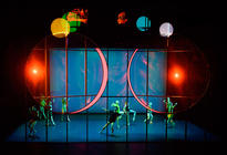 Photograph from Tree of Codes - lighting design by Rob Halliday