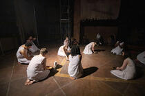 Photograph from Sunlight Is The Best Disinfectant - lighting design by JoeUnderwoodLX