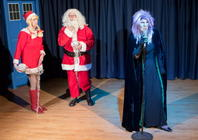 Photograph from Attack of the Christmas Puddings - lighting design by Stuart Sampson