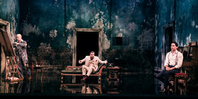 Photograph from Dorian Gray - lighting design by Matthew Haskins