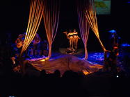 Photograph from Good Night Deer - lighting design by Steve Lowe