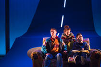 Photograph from Passing Places - lighting design by Kate Bonney