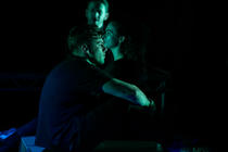 Photograph from BOXED - lighting design by Alex Lewer
