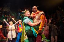 Photograph from Robin Hood & The Arrow of Destiny - lighting design by Jack Wills