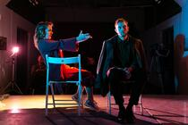 Photograph from Бомба/Bomb - lighting design by Edward Saunders
