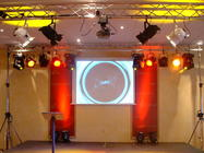 Photograph from global sprIT event - lighting design by Pete Watts