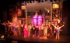 Photograph from Guys and Dolls - lighting design by Peter Vincent