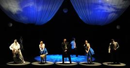 Photograph from Royal Academy of Music Opera Scenes - lighting design by Jake Wiltshire