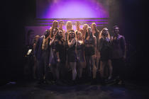 Photograph from Bright Lights Big City - lighting design by Sam Ohlsson