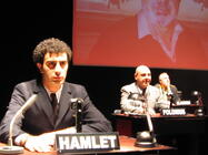 Photograph from Al-Hamlet Summit (Arabic Version) - lighting design by Richard Williamson