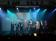 Photograph from Guys and Dolls - lighting design by Pete Watts