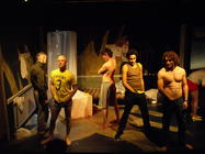 Photograph from The Backroom - lighting design by Steve Lowe