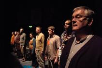 Photograph from Talking To Terrorists - lighting design by Pete Watts