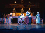 Photograph from Fiddler on the Roof - lighting design by Peter Vincent