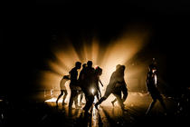 Photograph from Lord of the Flies - lighting design by Ben Jacobs