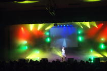 Photograph from Pop Icons 2009 - lighting design by Pete Watts
