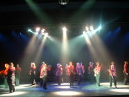Photograph from A Shelby Sensation - lighting design by Pete Watts