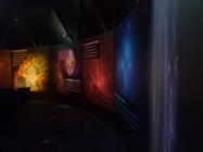 Photograph from Yorkshire Planetarium - lighting design by Pete Watts