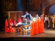 Photograph from Faust - lighting design by Pete Watts