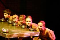 Photograph from Oliver! - lighting design by Peter Vincent
