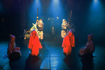 Photograph from The Feast of the Ants - lighting design by Azusa Ono