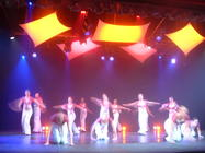 Photograph from Gotta Dance - lighting design by Pete Watts
