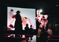 Photograph from Aftermaths: a tear in the meat of vision - lighting design by Azusa Ono