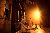 Photograph from Street Scene - lighting design by Charlie Morgan Jones
