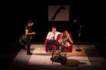 Photograph from Assembly Required - lighting design by Alan Mooney