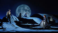 Photograph from Wuthering Heights - lighting design by Matthew Haskins