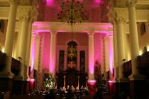 Photograph from Annual Carol Service - lighting design by Edmund Sutton