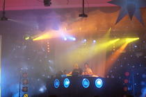 Photograph from Leicester Uni Summer Ball - lighting design by Pete Watts