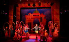 Photograph from Kiss Me Kate - lighting design by Rob Halliday