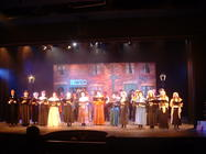 Photograph from Christmas Music - lighting design by Pete Watts