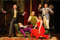 Photograph from The Play that goes wrong - lighting design by Ric Mountjoy
