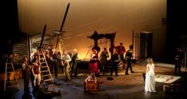 Photograph from The Bartered Bride - lighting design by Ben Pickersgill