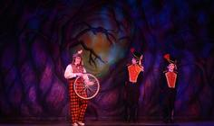 Photograph from Mother Goose - lighting design by Pete Watts