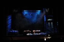 Photograph from Annie UK Tour - lighting design by Pete Watts